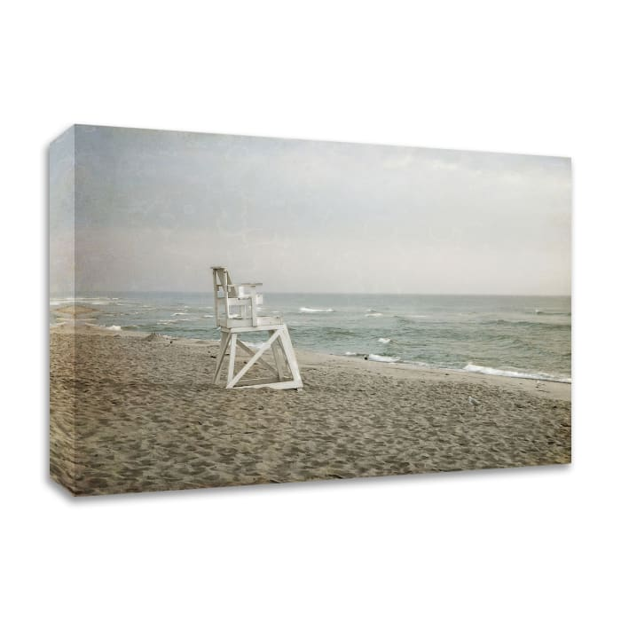 Lifeguard Chair at Dawn by Brooke T. Ryan Wrapped Canvas Wall Art