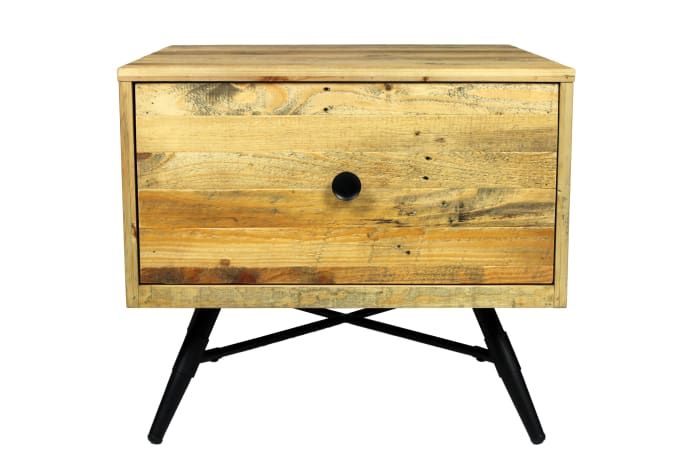 Harbor 1 Drawer With Iron Legs End Table