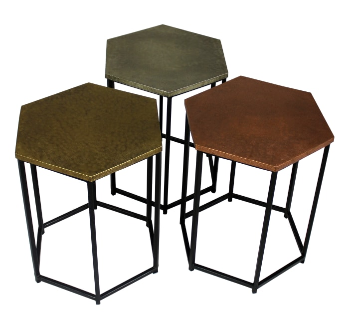 Hexter With Brass Occasional Table