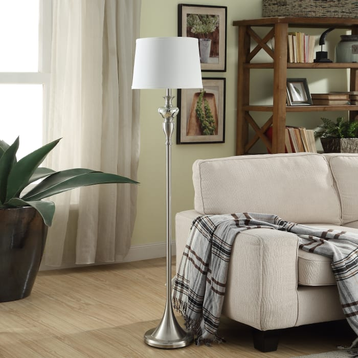 Omnia Classic Metal & Glass Floor Lamp