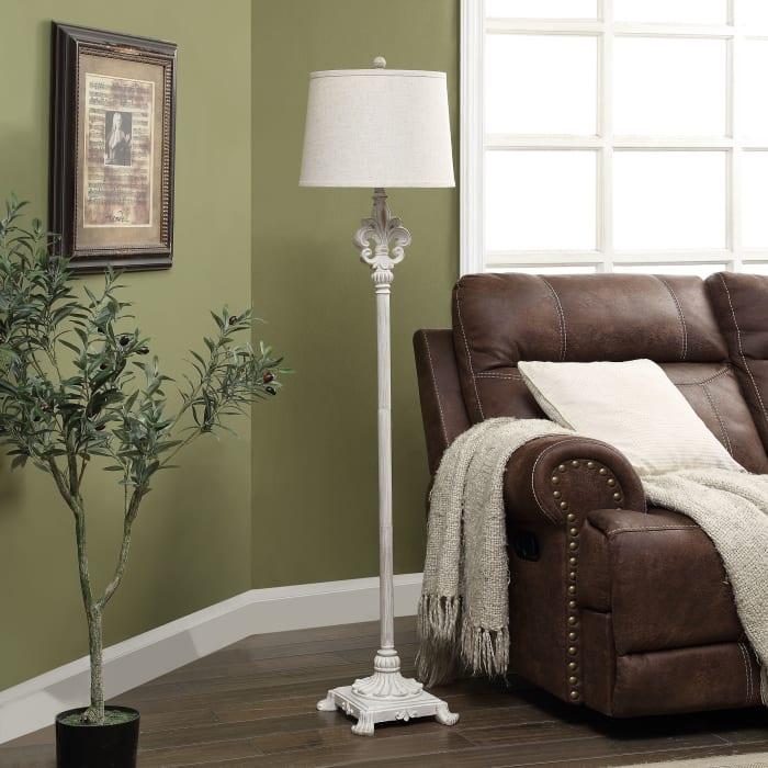 Keane Traditional Resin Floor Lamp