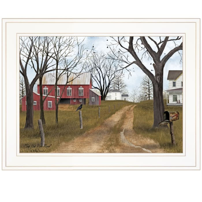 The Old Dirt Road By  Billy Jacobs Framed Wall Art