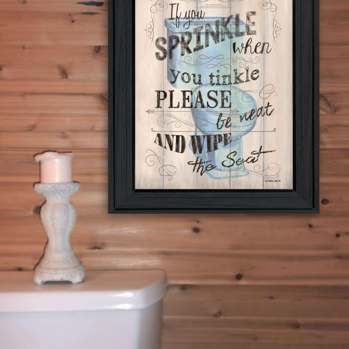 Bathroom Humor by Debbie DeWitt Framed Wall Art