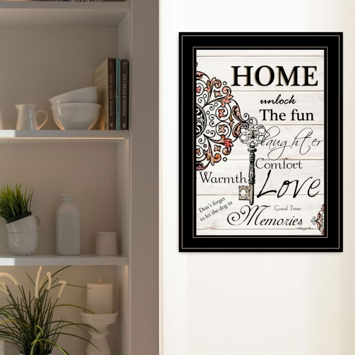 Home Laughter by Robin-Lee Vieira Framed Wall Art
