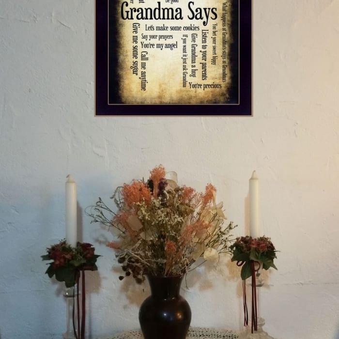 Grandma Says By Susan Ball Printed Wall Art