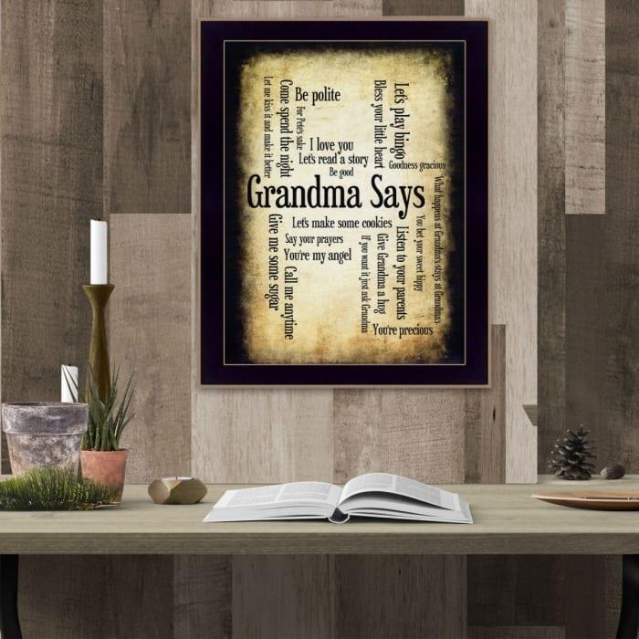 Grandma Says By Susan Boyle Printed Wall Art
