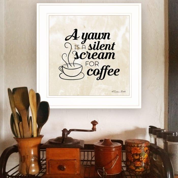 A Silent Scream for Coffee by Susan Ball Framed Wall Art