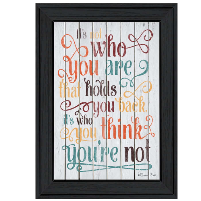 Who You Think You Are by Susan Ball Framed Wall Art