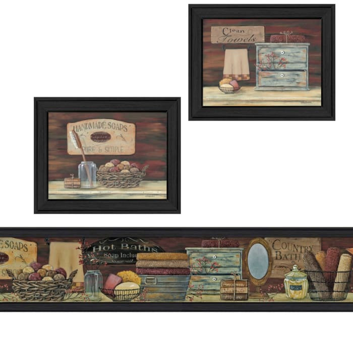 Country Bath II Collection By Pam Britton Framed Wall Art