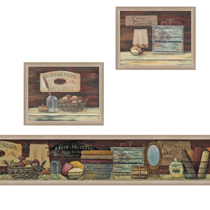 Country Bath I Collection By Pam Britton Framed Wall Art