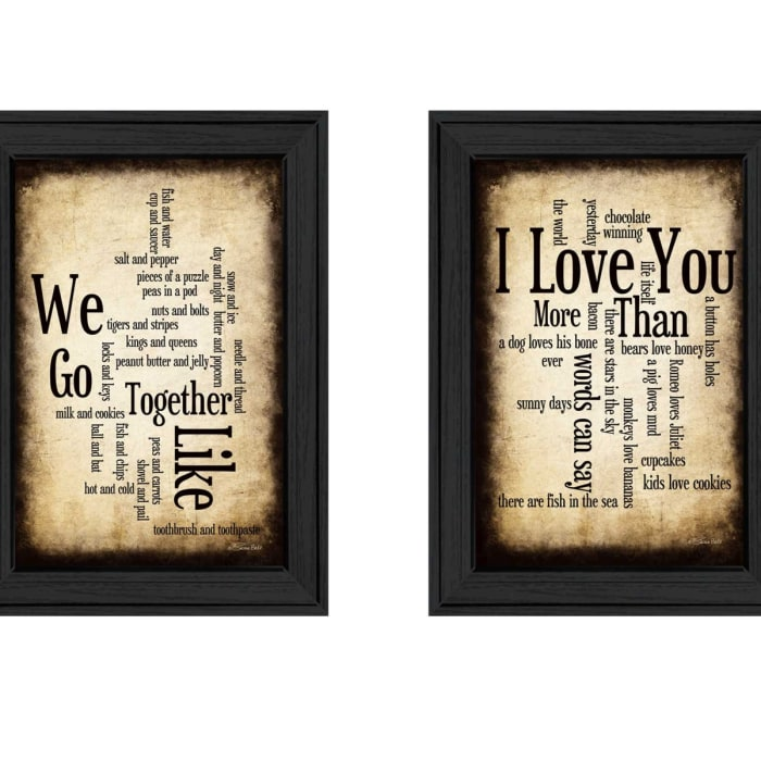 Sentiment Collection By Susan Ball Framed Wall Art