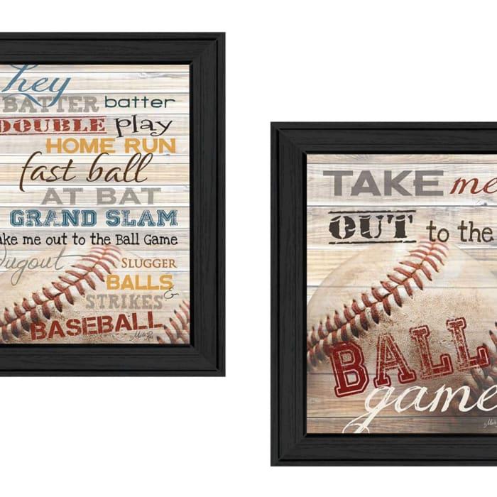 Baseball Collection By Marla Rae Framed Wall Art