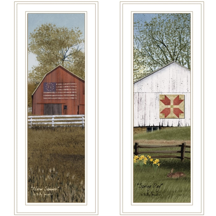 Country Barns Collection By Billy Jacobs Framed Wall Art