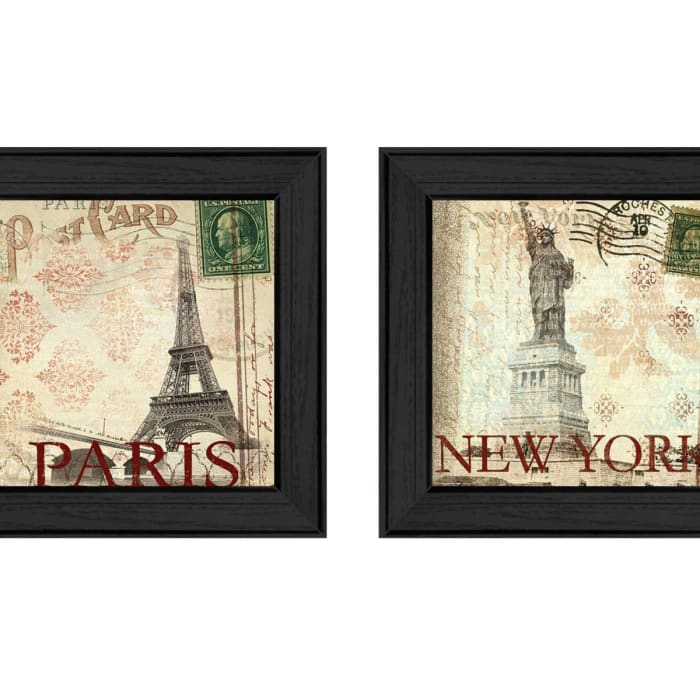 Post Cards Collection By Dee Dee Framed Wall Art