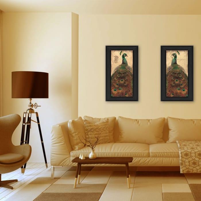 Peacock Collection By John Jones Framed Wall Art