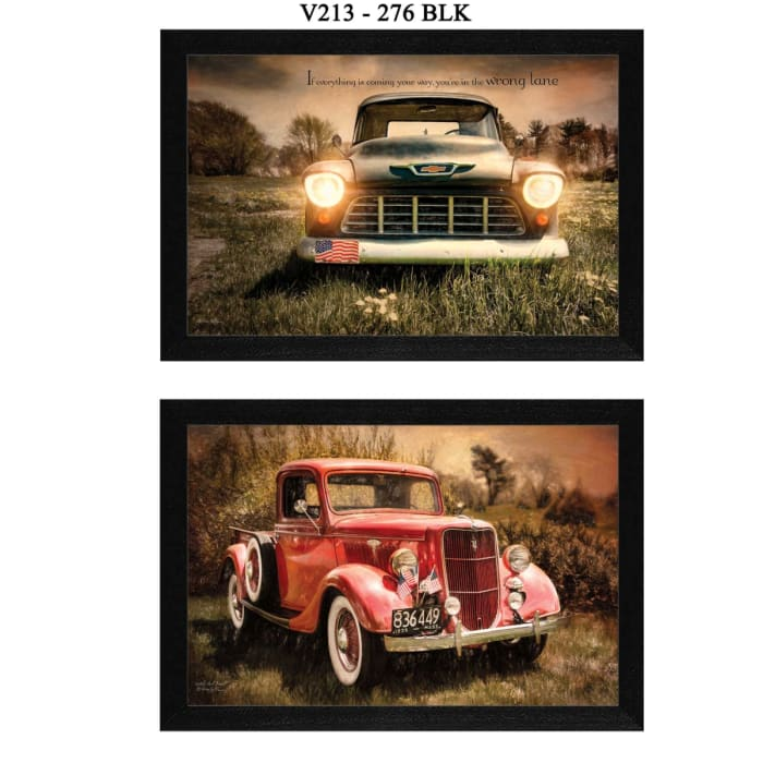Vintage Trucks Collection By Robin-Lee Vieira Framed Wall Art