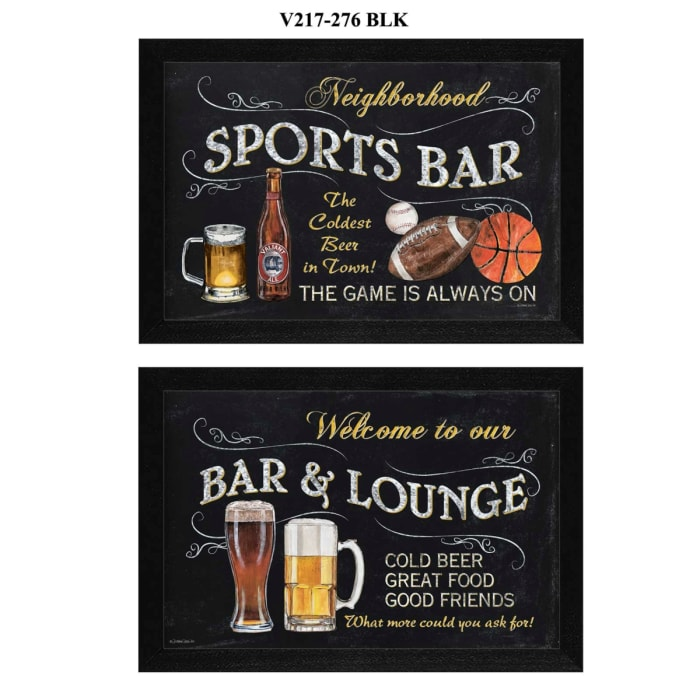 Sports Bar Collection By Debbie DeWitt Framed Wall Art