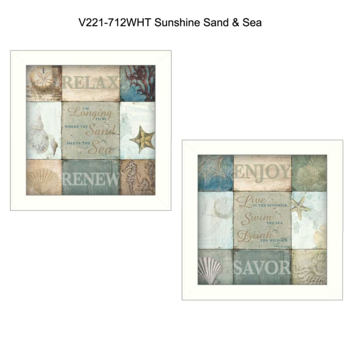 Sunshine Sand and Sea Collection By Dee Dee Framed Wall Art