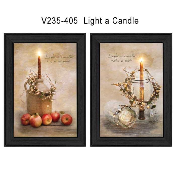 Light a Candle Collection By Robin-Lee Vieira Framed Wall Art