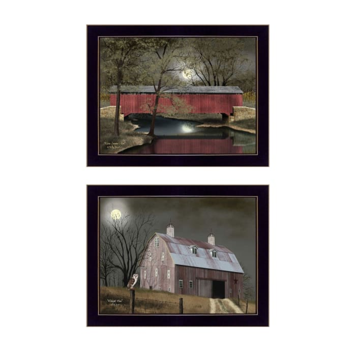 Midnight Moon Collection By Billy Jacobs Framed Wall Art