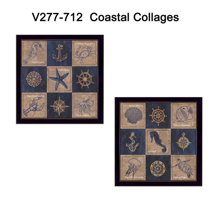 Coastal Collage Collection By Debbie DeWitt Framed Wall Art