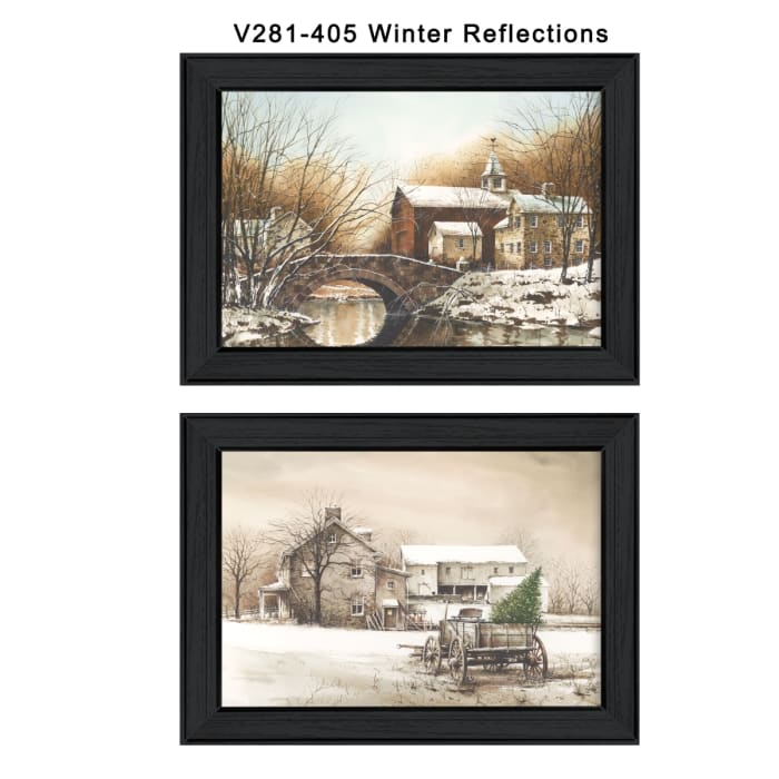 Winter Reflections Collection By John Rossini Framed Wall Art