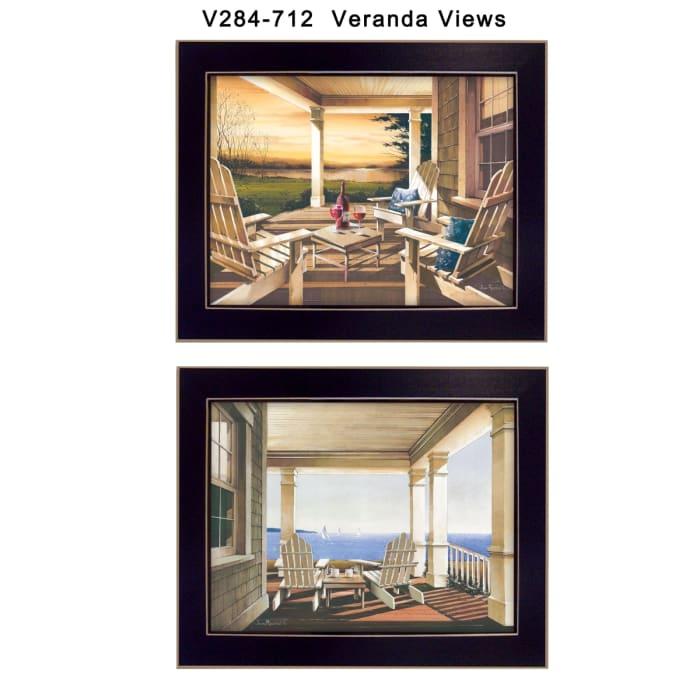 Veranda Views Collection By John Rossini Framed Wall Art