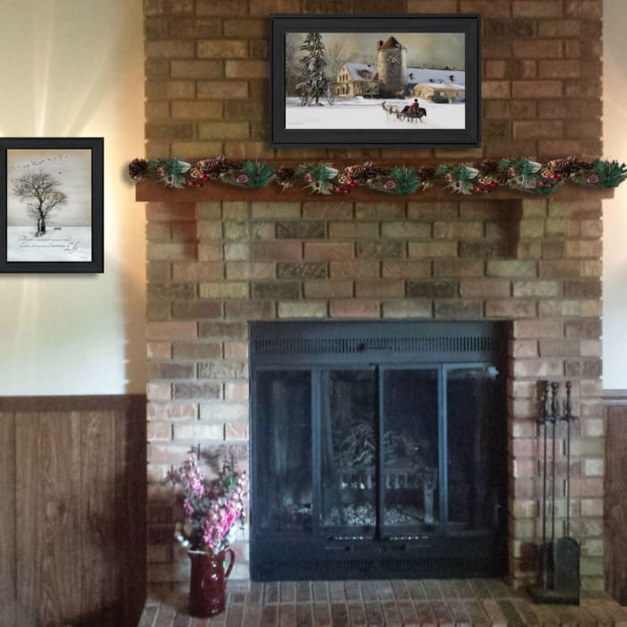 Winter Harmony Vignette Collection By Robin-Lee Vieira Framed Wall Art