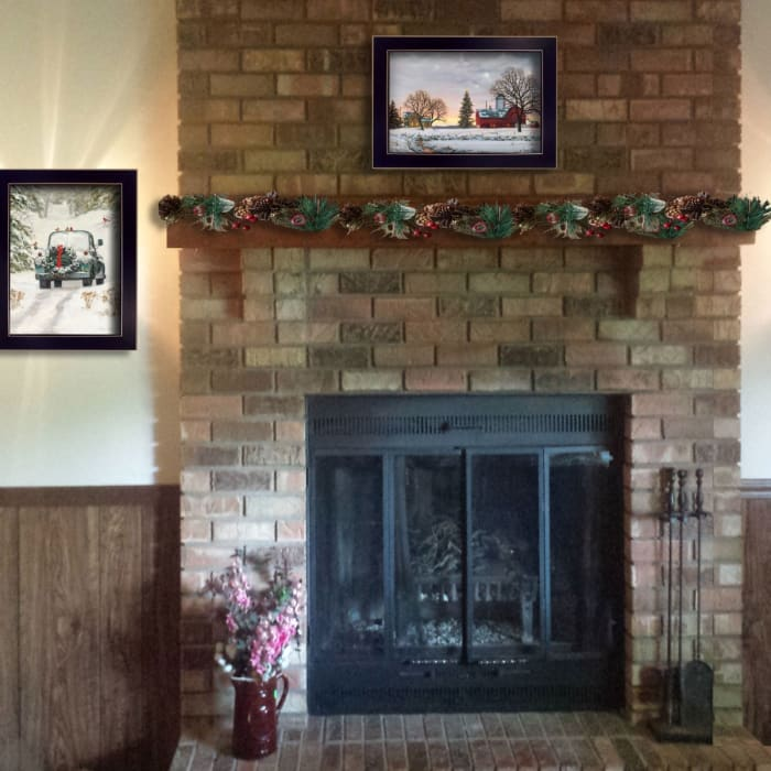 Home for Christmas Collection By Bonnie Mohr Framed Wall Art