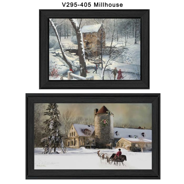 Millhouse Vignette Collection By R. Vieira and G. Turley Framed Wall Art