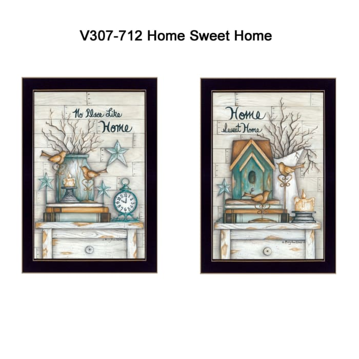 Home Sweet Home Collection By Mary June Framed Wall Art