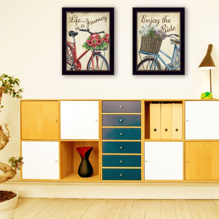 Vintage Bicycles Collection By Debbie DeWitt Framed Wall Art