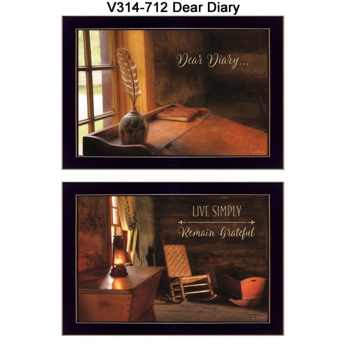 Dear Diary Collection By Lori Deiter Framed Wall Art