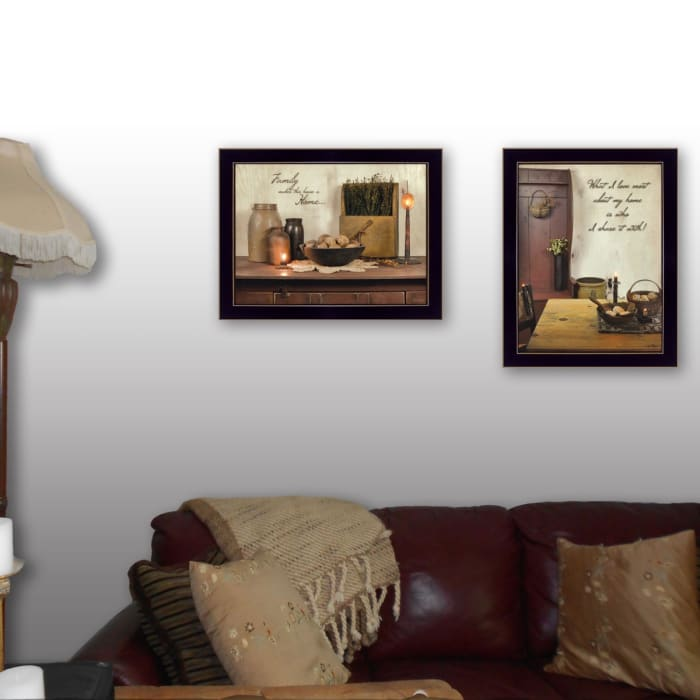 Home and Family Collection By Susan Boyer Framed Wall Art