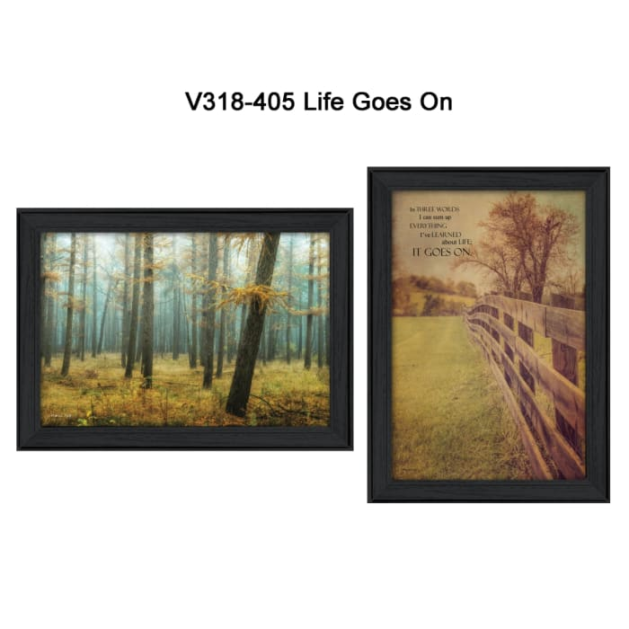 Life Goes on Collection By M. Podt and K. Jennings Framed Wall Art