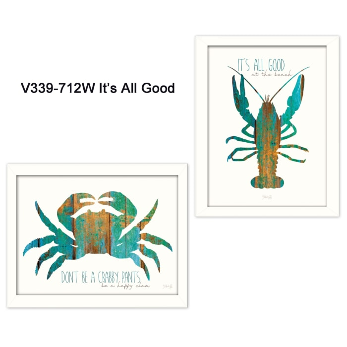 It's All Good at the Beach Collection By Marla Rae Framed Wall Art