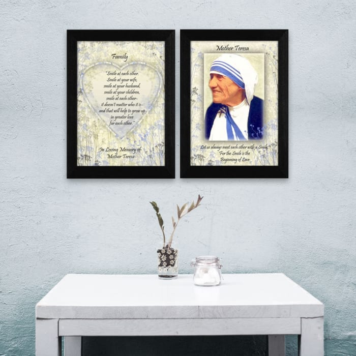 Family Quotes by Mother Teresa Collection Framed Wall Art