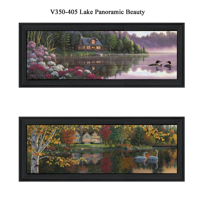 Lake Panoramic Beauty Collection By Kim Norlien Framed Wall Art