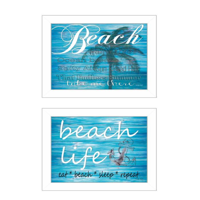Beach Life 2-Piece Vignette by Cindy Jacobs Framed Wall Art