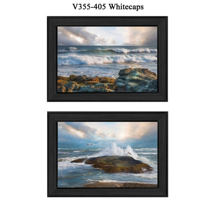 Whitecaps Collection By Robin-Lee Vieira Framed Wall Art