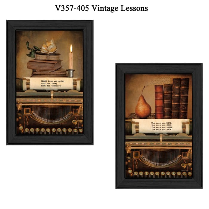 Vintage Lessons Collection By Robin-Lee Vieira Framed Wall Art