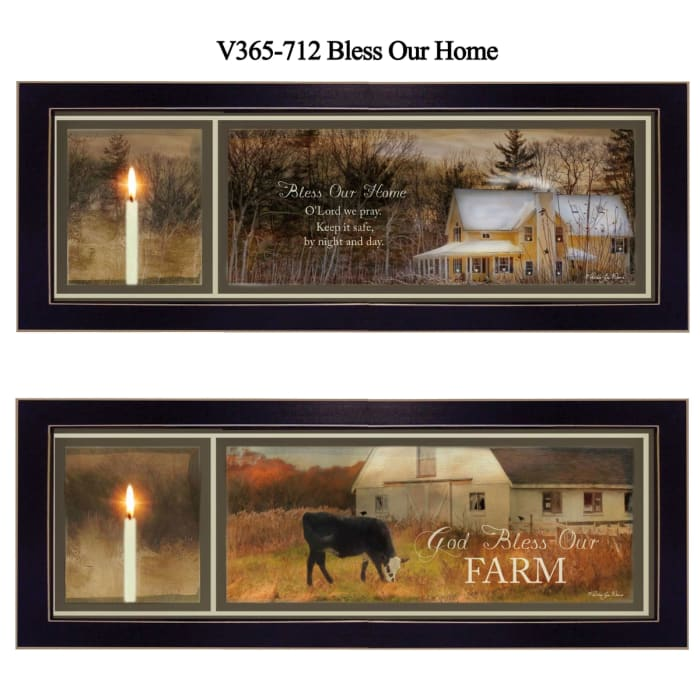 Bless Our Home Collection By Robin-Lee Vieira Framed Wall Art