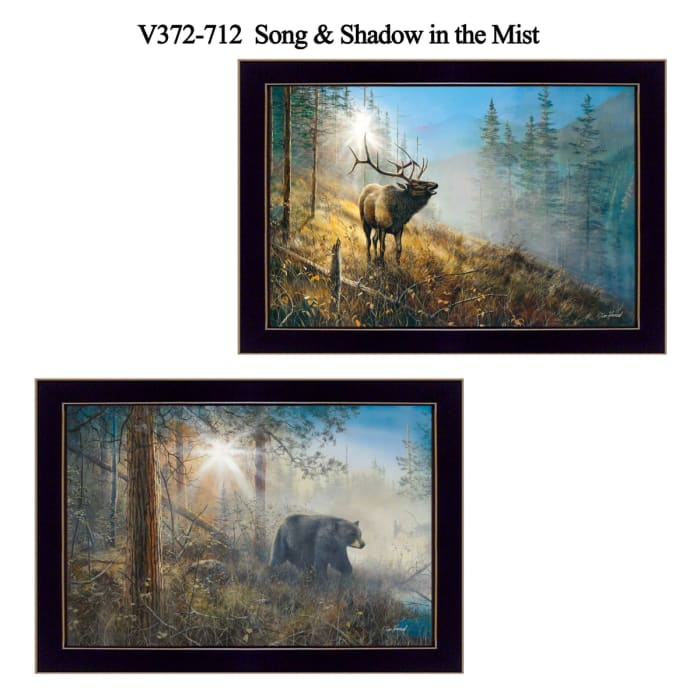 Song and Shadow in the Mist Collection By Jim Hansen Framed Wall Art