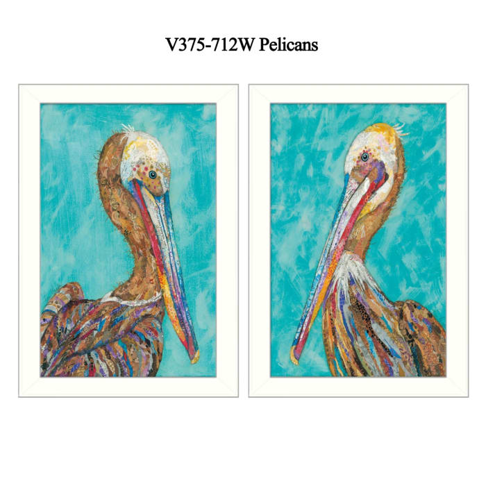 Pelicans Collection By Lisa Morales Framed Wall Art