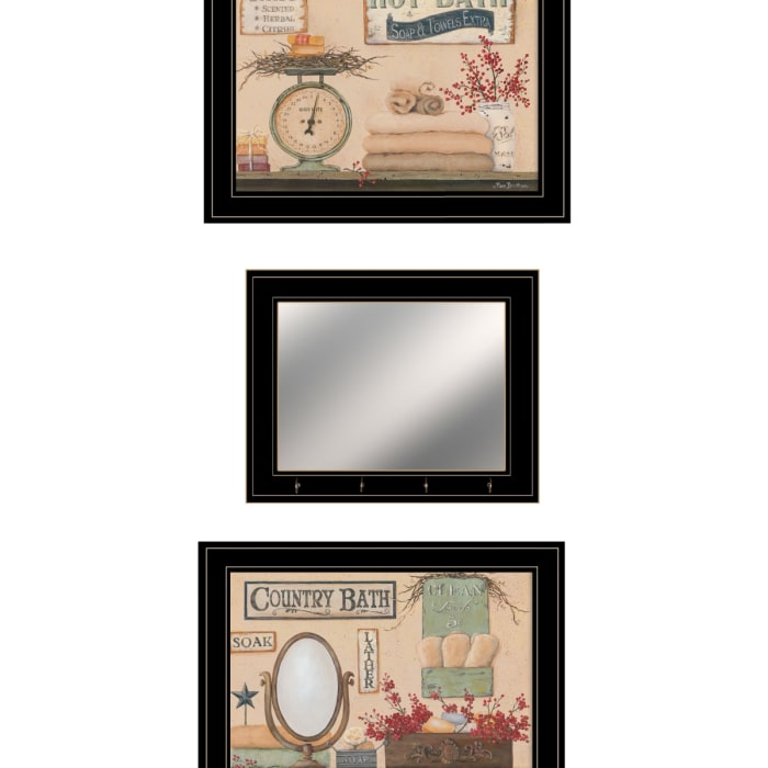 Country Bath III Collection By Pam Britton Framed Wall Art