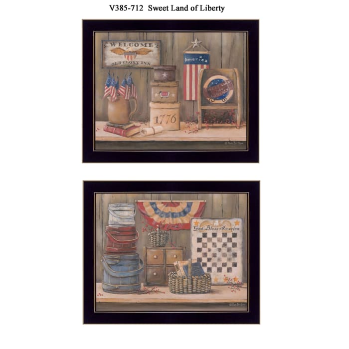 Sweet Land of Liberty Collection By Pam Britton Framed Wall Art