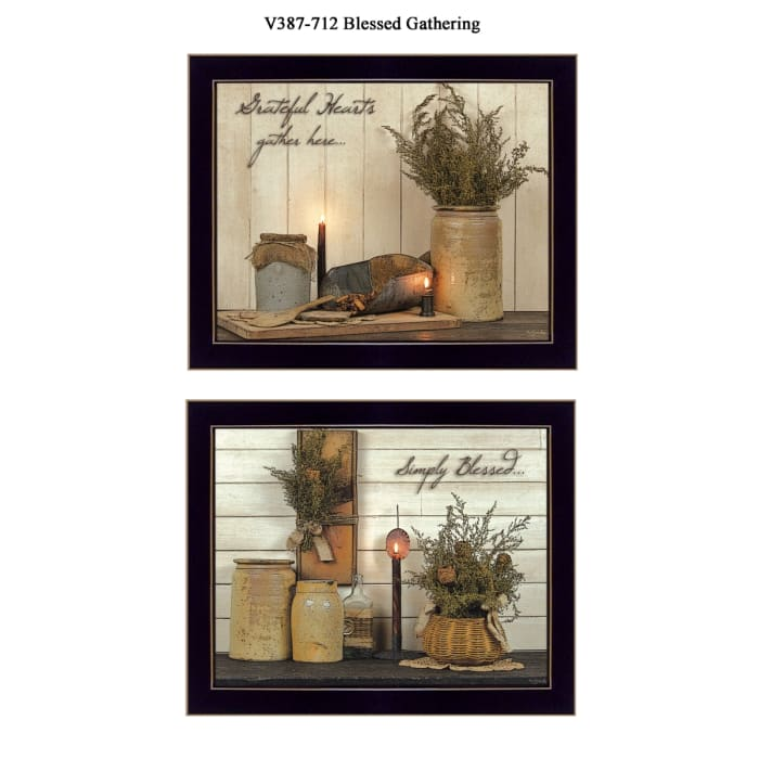 Blessed Gathering Collection By Susan Boyer Framed Wall Art