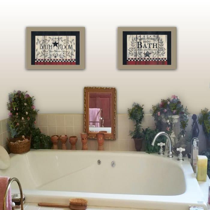 Hot Bath by Linda Spivey Framed Wall Art