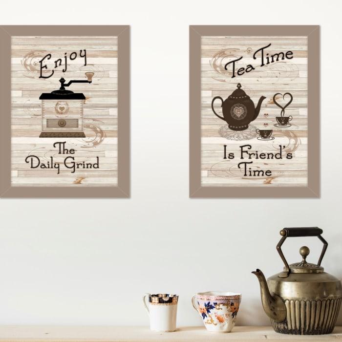 Enjoy Tea Time by Millwork Engineering Framed Wall Art