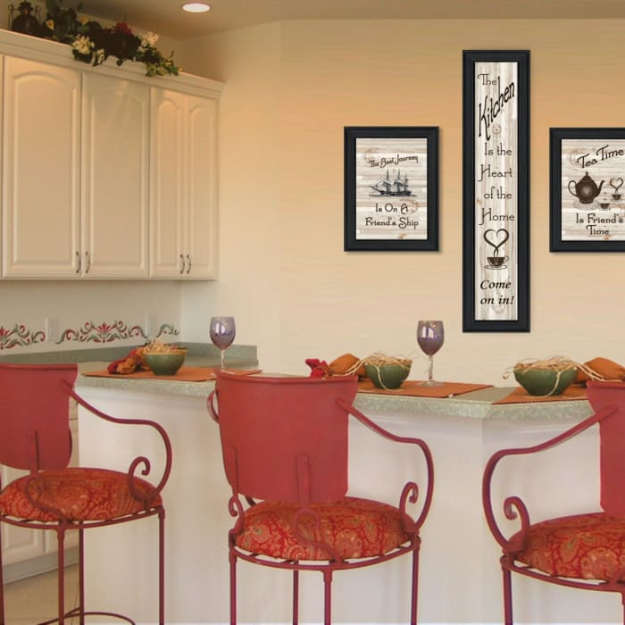 The Kitchen Collection II 3-Piece Vignette by Millwork Engineering Framed Wall Art